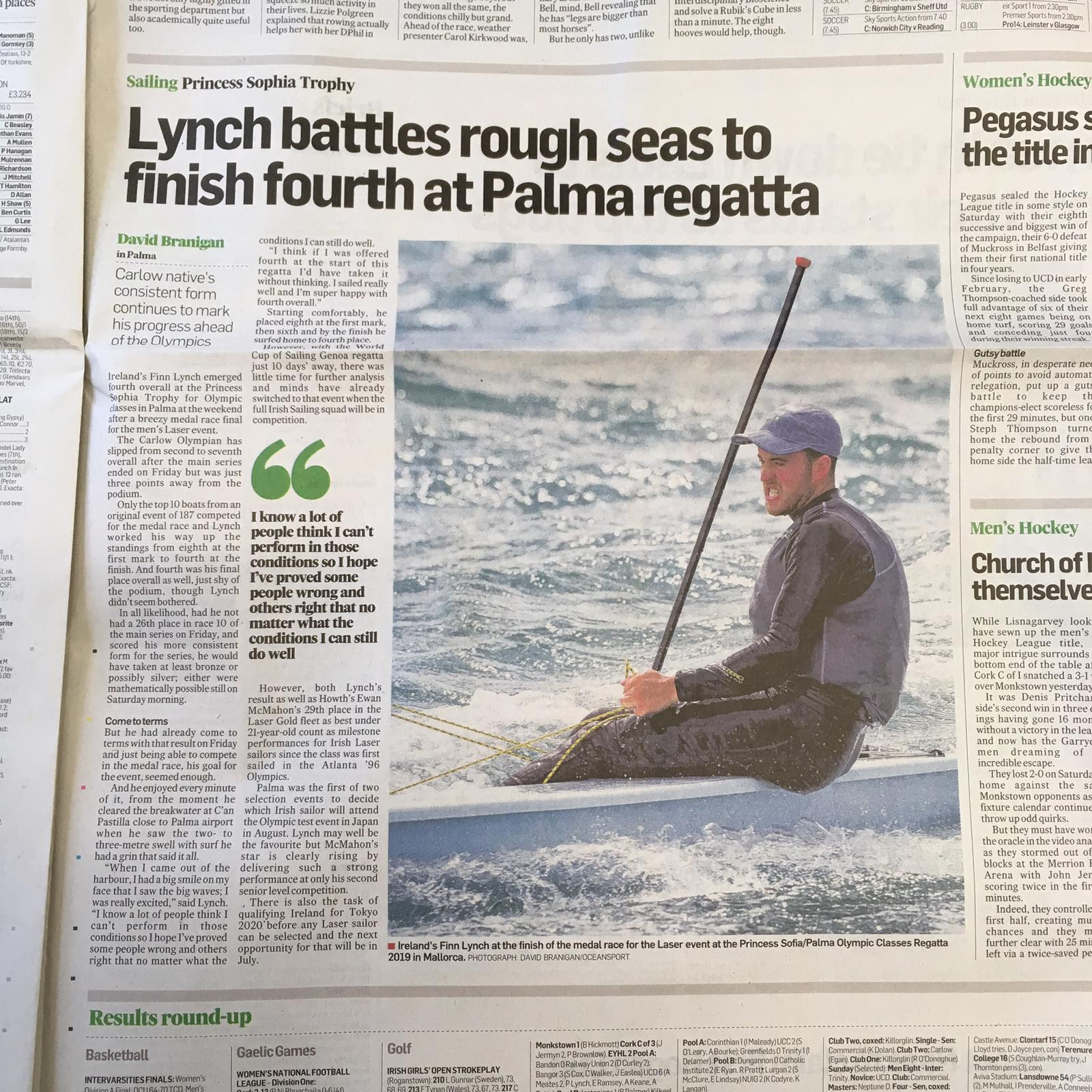 Description image of Finn Lynch Takes Fourth Place in the Princes Sophia Trophy