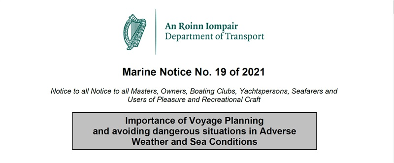 Marine Notice No. 19 of 2021