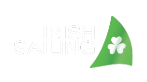 Irish Sailing logo white lettering_on transparent bg png